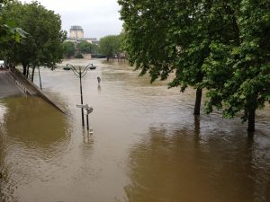The Seine at its highest level in 30 years